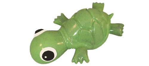 Cycle Dog 3-Play Turtle Dog Toy, Ecolast Post Consumer Recycled Material, Green
