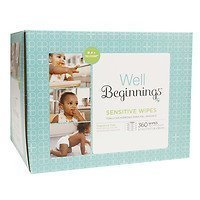 Well Beginnings Wipes Refill Sensitive, 360 ea