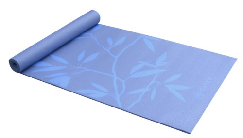 Gaiam Yoga Mat Premium Print Extra Thick Non Slip Exercise & Fitness Mat for All Types of Yoga, Pilates & Floor Exercises, Ash Leaves, 5/6mm