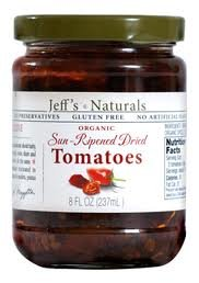 Jeff's Naturals Tomato, Sun Ripened Dried Oil OG2 8 oz. (Pack of 6)