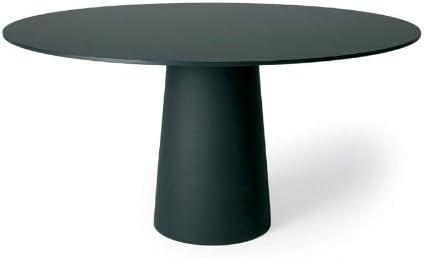 Moooi Container Tisch rund, schwarz HPL Laminat Ø120cm