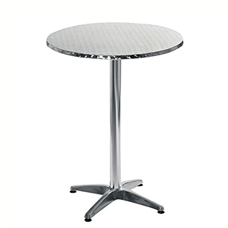 Eurostyle Allan 27.5\u0026quot; Bar Table in Stainless Steel and Aluminum  sc 1 st  Amazon.com & Amazon.com : Eurostyle Allan 27.5\