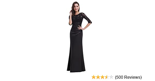 5446c4b28b Ever-Pretty Elegant Lace Long Sleeve Formal Floor Length Evening Dress  09882 at Amazon Women s Clothing store