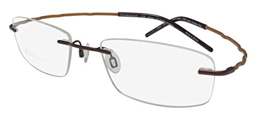 Charmant Eyeglasses TI11924 TI/11924 BR Brown Rimless Optical Frame - Glasses Drill Mount Rimless