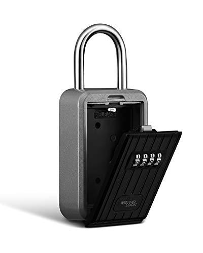 Wizardlock Portable Key Storage Lock Box, Set Your Own Combination, 8 Keys Capacity