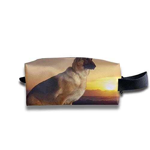 German Shepherd Dog Pet Animal D Oxford cloth Multifunction Travel Cosmetic Bag Large Capacity