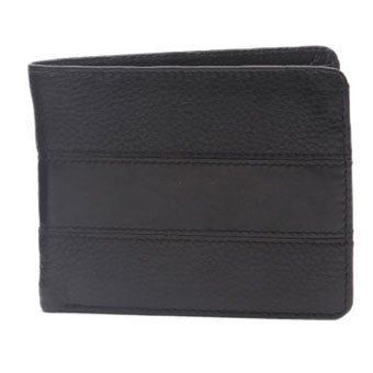 Walletsnbags Prism Leather Mens Wallet Black