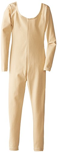 Capezio Little Girls' Team Basic Long Sleeve Unitard, Nude, Small