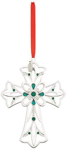 Lenox 2018 Gemmed Cross Ornament