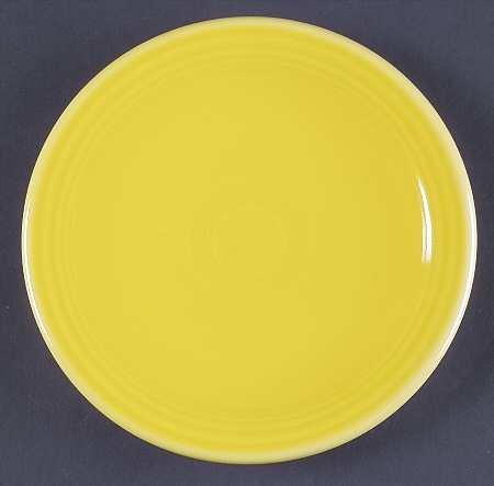 (Homer Laughlin Fiesta-Sunflower (Newer) Bread & Butter Plate, Fine China Dinnerware)