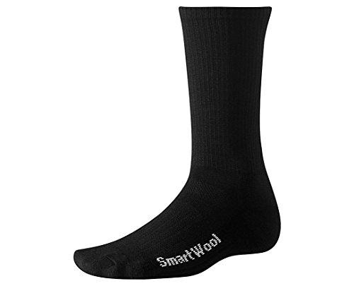 SmartWool Liner Crew Hiking Socks - Large - Black (Smartwool Ultralight Socks)