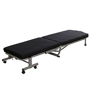 アイリスオーヤマ 折りたたみベッド コンパクトタイプ 14段階リクライニング ネイビー OTB-MN