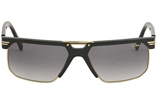 fdf8d75c42 Cazal Men s 9072 001 Black Gold Fashion Square Sunglasses 61mm   Amazon.co.uk  Clothing
