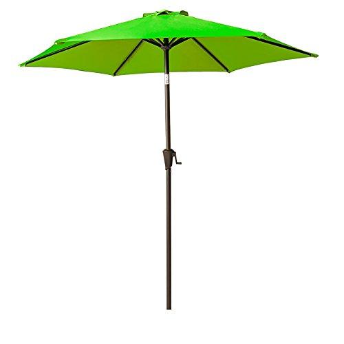 FLAME&SHADE 7 Feet 5 inch Patio Umbrella Crank Lift, Push Button Tilt, Apple Green Review