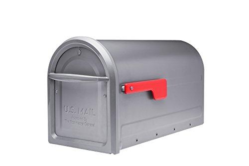 Architectural Mailboxes 7900-2GR-R-10 Mapleton Postmount Mailbox, Large, Graphite