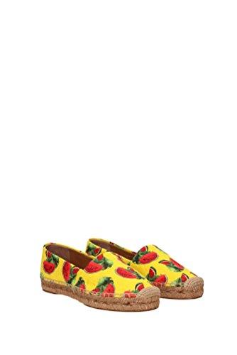 Espadrilles Dolce&Gabbana Damen - Stoff (ANGURIACE0001AG162) EU Gelb