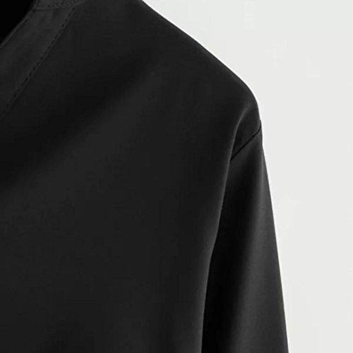 Noir T Tops Automne Col Femmes Nouveau Solide Mode Printemps zahuihuiM Casual Blouses Nouveau Manches Irrgulire Shirt Arc 2018 V Longues Ourlet xaEpqRaFX