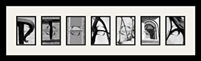 Art to Frames LetterArt-Rihanna-16926-61/89-FRBW26079 38 by 10-Inch Picture Frame, 1.25-Inch Wide, Satin Black