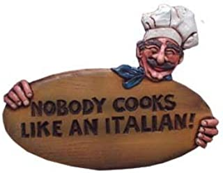 product image for Piazza Pisano Italian Decor Plaque Nobody Cooks Like an Italian
