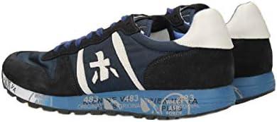 PREMIATA Sneaker Uomo in Pelle Modello Eric. Colore Blu