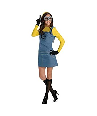 Printed Despicable Me 2 Movie Lady Minion Adult Womens Costume
