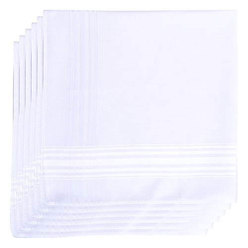 Van Heusen 6 Pack Cotton Handkerchiefs Solid White