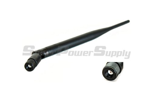 Super Power Supply® 1 x 6dBi 2.4GHz 5GHz 5.8GHz Dual Band WiFi RP-SMA db Antenna style 2 for Routers Linksys Cisco E2100L WRT160NL TP-Link TL-WR1043ND TL-WR2543ND TL-WDR3500 TL-WDR4300 Amped Wireless SR150 AP300 R300 SR300 300N R10000 R10000G SR10000 SR20000G AP20000G Belkin F7D8301 ZyXEL NBG461 NBG4615 WAP3205 Asus RT-N16 RT-N66U RT-AC66U D-Link DIR-655 DIR-825 DAP-1360 Buffalo WZR-HP-G450H WHR-HP-G300N Omni Directional Works with A B G N AC Network Extension Mini PCIe PCI Cards WAN Repeater