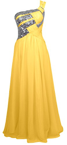 MACloth Women One Shoulder Long Briesmaid Dress Wedding Evening Party Gown Amarillo