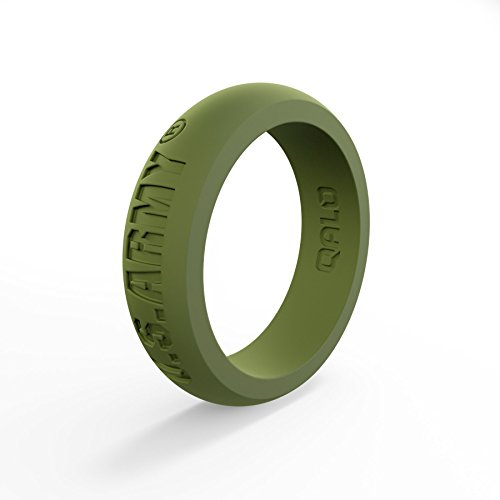 (Women's Army Green U.S. Army Classic Q Q2X Silicone Ring Size 06)