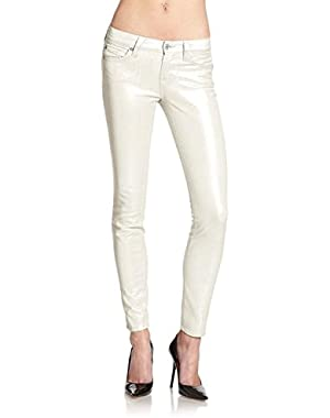 7 For All Mankind Women's The Skinny Jeans in Grey Opalescent