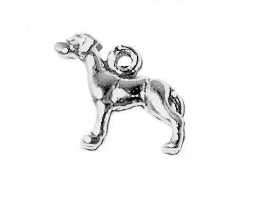 (Corinna-Maria 925 Sterling Silver Great Dane Dog Charm Mini)