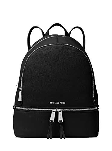 MICHAEL Michael Kors Rhea Large Leather Backpack, Color 001 Black