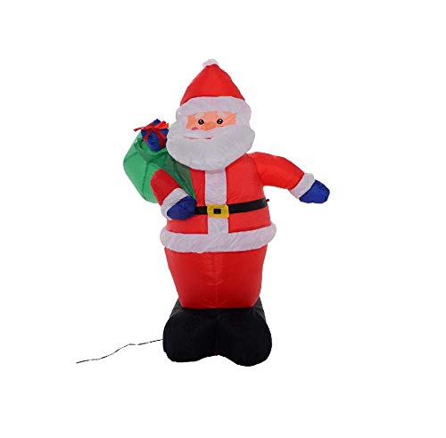 4 Ft Inflatable Christmas Santa Claus Airblown Gift Decor Lawn Yard Outdoor