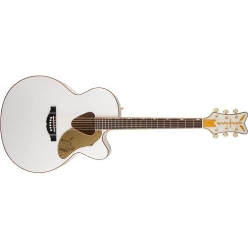 Gretsch 5022CWFE Rancher Falcon Jumbo Cutaway - White, Acoustic/Electric (Gretsch Solid Guitar)