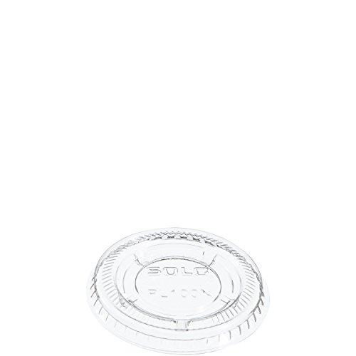 (Solo PL100N Clear Portion Container Lid - Fits 0.5-1.25 oz (Case of 2500))