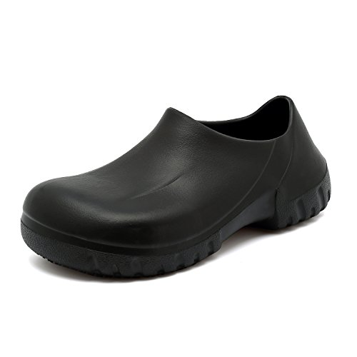 EASTSURE Slip Resistant Shoes for Women Men Black Non Slip Kitchen Work Shoes for Nurse Chef,US 7.5,EU 39 by EASTSURE (Image #1)