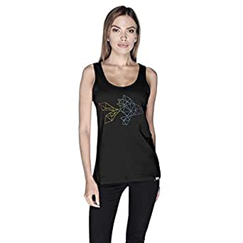 Creo Fish Animal Tank Top For Women - Xl, Black