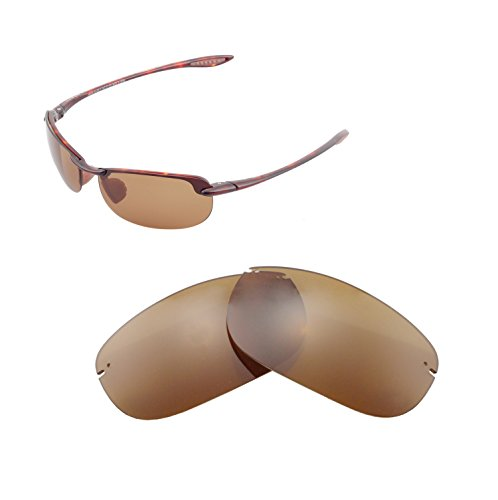 Walleva Replacement Lenses For Maui Jim Makaha Sunglasses - Multiple Options available (Brown - - Lens Replacement Jim Maui