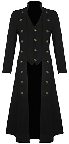 Gothic Steampunk Military Corset Trench