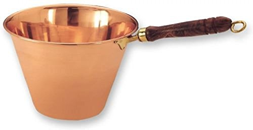 Old Dutch 16.75 x 10 Solid Copper Polenta Pan Wood Handle 5 Qt