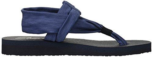 Foncé nbsp;Studio Ouvertes Kicks Skechers Denim Sandales Femme Meditation z6wTqx0qf