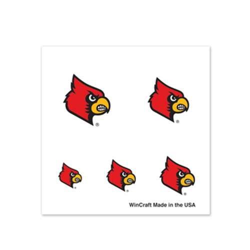 - Louisville Cardinals Fingernail Tattoos - 4 Pack