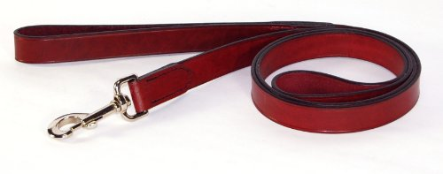 "Hamilton 1"" x 6' Burgundy Leather Training Dog Lead"