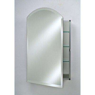 (Afina SD2026RARC-BV-L Single Door Recessed Arch Top Beveled Left Hinge Medicine Cabinet, 20