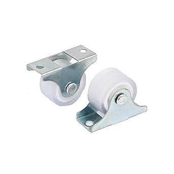 DealMux Muebles Silla de 1 pulgada Dia del metal de la placa superior fija Ruedas de Fundición tono de plata de 2 PC: Amazon.es: Industria, ...