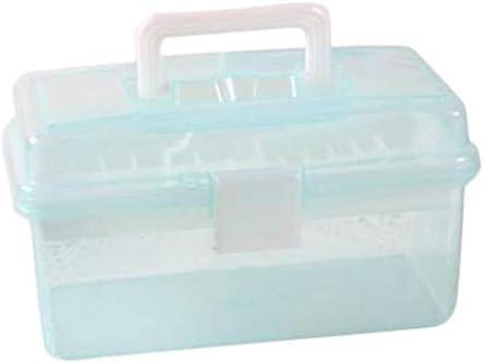 Wakerda Pequeña Caja de Herramientas Transparente Arte Caja de ...