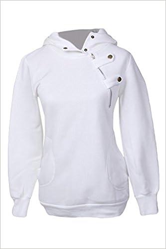 Pink Queen Women's Zipper High Collar Hooded Sweatshirt