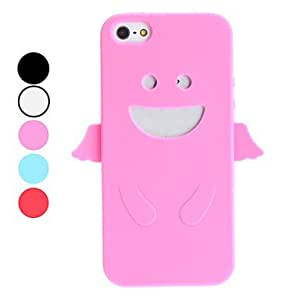 3D Design Angel Pattern Soft Case for iPhone 5/5S (Assorted Colors) --- COLOR:White