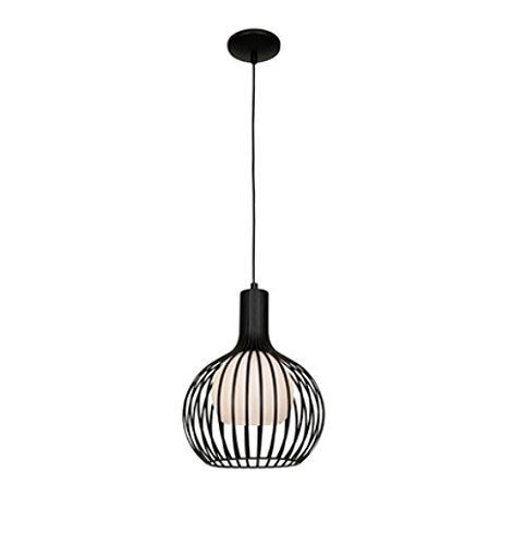 Access Lighting 23436-BL Chuki One Light 12-Inch Diameter Pendant with Opal Glass Shade, Black Finish by Access Lighting