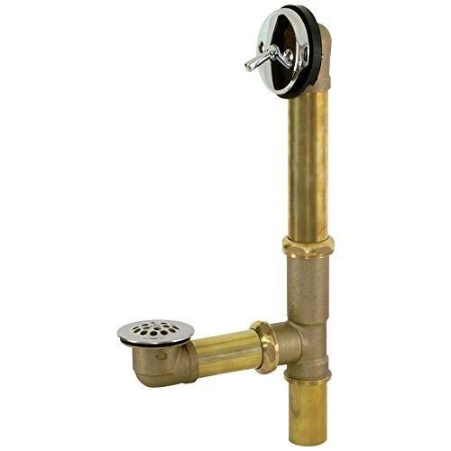 Eastman 35201 Trip Lever Brass Bath Waste and Overflow Drain with Chrome Plated - Waste Chrome Kit
